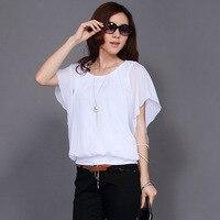 Mujer primavera más tamaño o-cuello corto Batwing manga algodón Camisetas Mujer verano gran tamaño suelta blusa de lino
