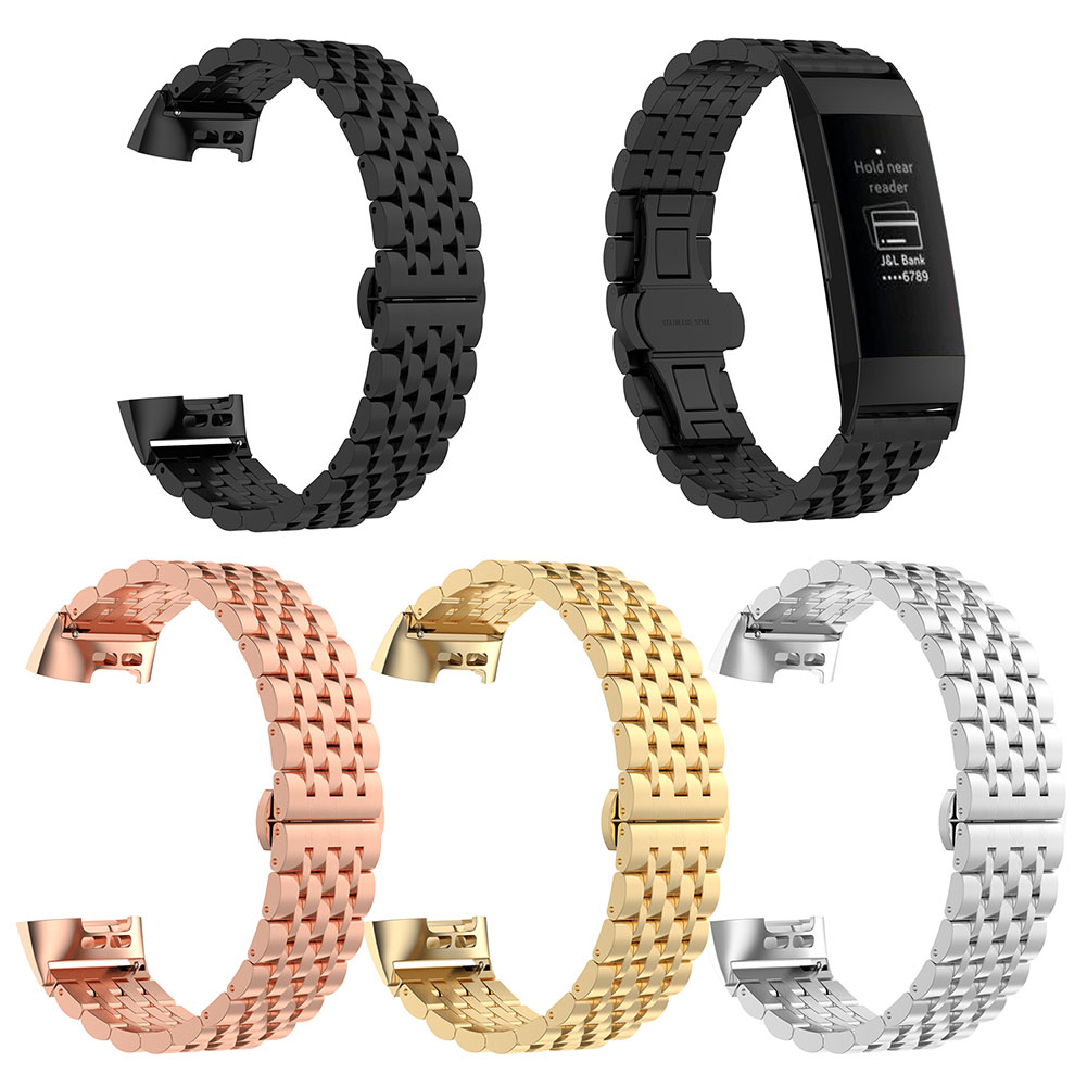 Watchband Smart Band Strap Steel Metal Buckle Durable Compatible Charge3 GT66