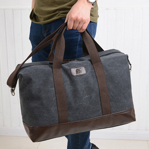 Image 5 - Vintage Canvas Bags for Men Travel Hand Luggage Bags Weekend Overnight Bags Big Outdoor Storage Bag Large Capacity Duffle Bag