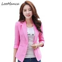 Women Blazers And Jackets 2017 New Plus Size Slim Female Basic Blaser Coat Ladies Korean Style