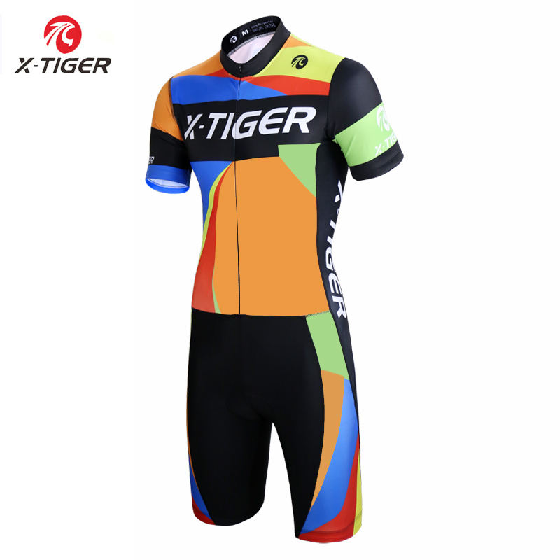 X Tiger Triathlon Cycling Jersey Quick dry Cycling Skinsuit MTB Bike Jersey Ropa De Ciclismo Maillot