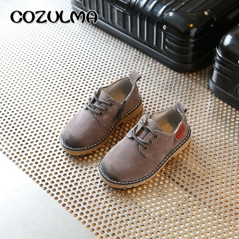 COZULMA Boys Girls Sneakers Lace up Leather Kids Fashion Sneakers Children Shoes Boys Girls Shoes Kids Sport Shoes Size 21-36 Lahore