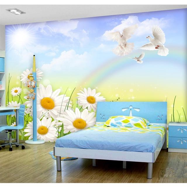 3D Custom Mural DIY Wallpaper For Walls Brand Designer Kidsu0027 Room Bedroom  Flowers Beautiful Scenery Wall Papers Home Decora 256