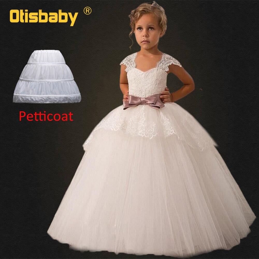 2802473ff8 Cheap Navidad vestido de noche de los niños Primera Comunión baile elegante  Floral Girls Lace Tulle