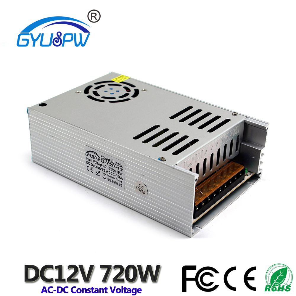 Video Surveillance Dedicated 12v 50a Dc Universal Regulated Switching Power Supply Cctv