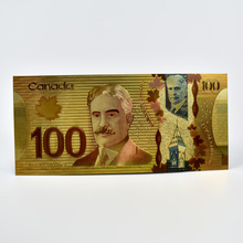 Canadian 100 Dollar Colorful Gold Foil Banknotes For Gift Canada Fake Money  Souvenir