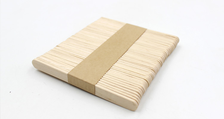 Popsicle Stick Birch Wood Sticks Ice-lolly Wooden Stick, Angle Edge Length 140mm for printing you own logo montblanc