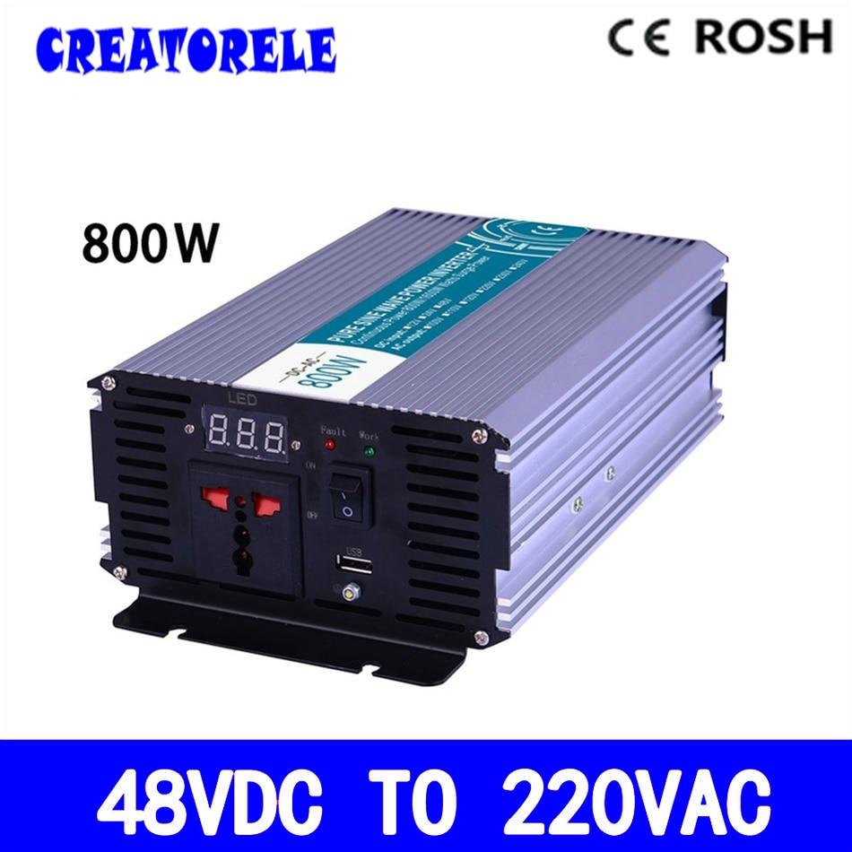 P800 482 800w Power Inverter 48v Dc 220v Ac Pure Sine Wave How To Make A Led Flashlight Bulb 8211 For 2 15 Volt Batterie Voltage Convertersolar Display
