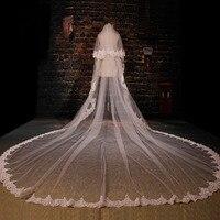 High Quality Wedding Veils Long Cathedral Veil White Ivory Lace Veil Bridal Veil