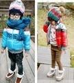 DW0006, 1 PCS Frete grátis de alta qualidade crianças casaco de inverno meninos moda casacos coloridos meninas outwear atacado e varejo
