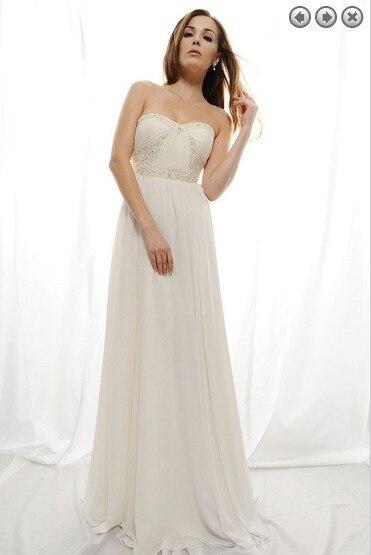 free shipping maxi 2018 vestidos formal new fashion white long plus size bridal gown chiffon Graduation   bridesmaid     dresses