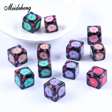 Acrylic Square bead Kapok Flower Smooth Surface Bracelet Pendant Necklace Hair Ornament Jewelry Accessories Womens Gifts