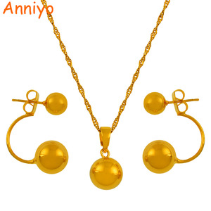 Anniyo Beads Necklace Earrings