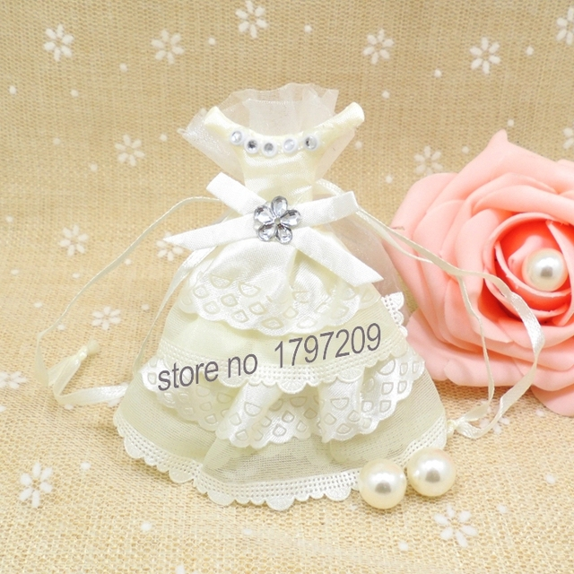 1pcs decoration mariage white bride wedding dress wedding party favor gift candy bag wedding candy boxes - Aliexpress Decoration Mariage