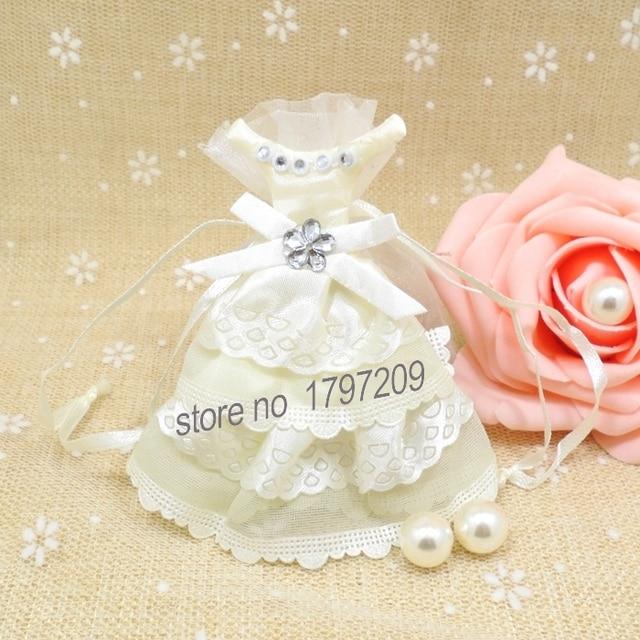 1pcs decoration mariage white bride wedding dress wedding party favor gift candy bag wedding candy boxes - Aliexpress Decoration Mariage