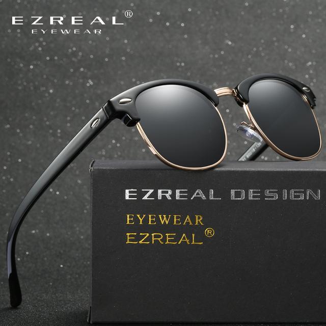 EZREAL Brand Classic Black Polarized Sunglasses Men Women Driving Sun Glasses For Man Shades Eyewear With Box Oculos 5161