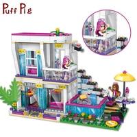 760PCS Pop Star Livi's House Educational Building Blocks Compatible Legoed Friends Girl's Dolls Figures Toys For Children Kids