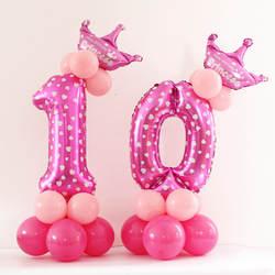 С Днем Рождения украшения Дети воздушный шар алюминиевый цифра воздушные шары для мероприятий, вечеринок, свадьбы Поставки Шапки