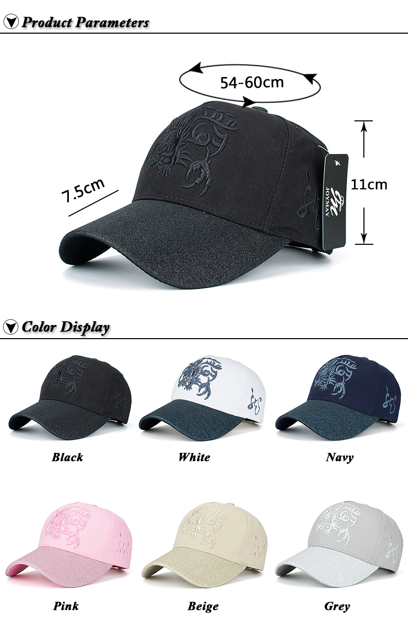Embroidered Chinese Dragon Baseball Cap - Product Parameters and Available Colors