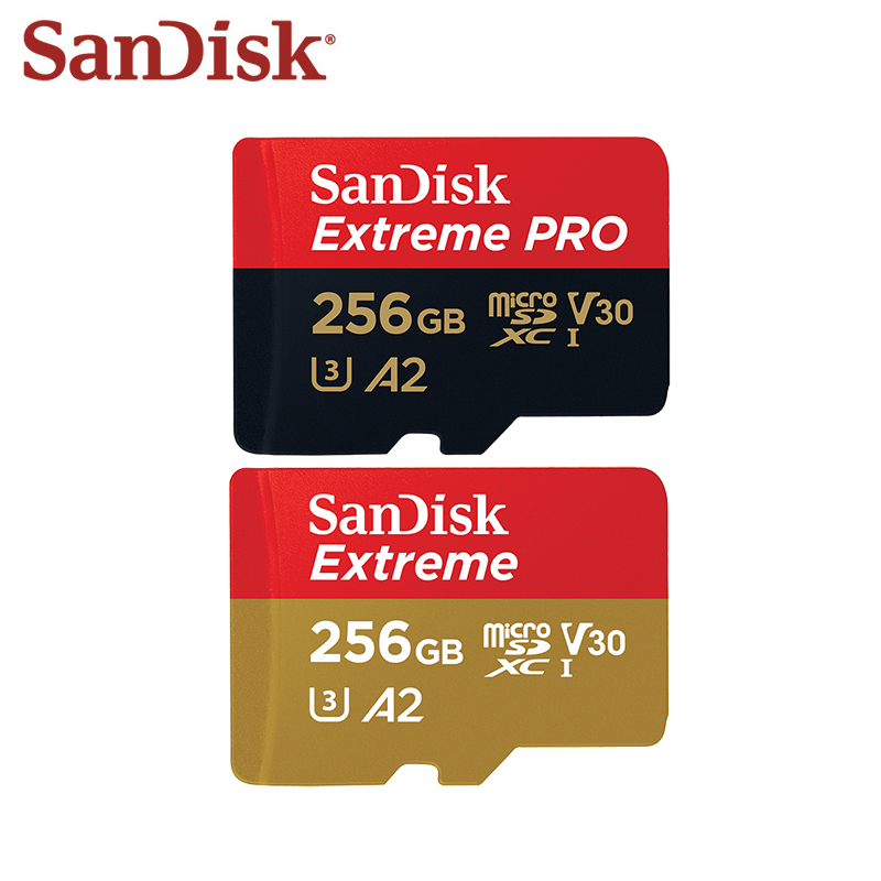 100 Original SanDisk Memory Card Extreme PRO SDQXP V30 256GB High Speed Extreme Micro SD Card