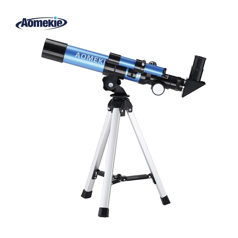 AOMEKIE F40040M Начинающий астрономический телескоп 20X/32X с компактный штатив компасы Moon Watching Telescopio детская игрушка в подарок