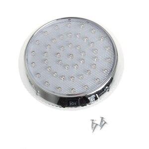 Image 1 - 37led 라운드 독서 램프 자동차 인테리어 돔 라이트 화이트 천장 조명 12 v 캐러밴 밴 택시 모터 홈 액세서리
