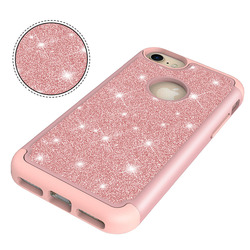 2018 for Apple iPhone8 Plus Case iPhone 8 Plus A1898 a1899 a1864 for iPhone8 iPhone 8 A1906 a1907 2 in 1 PC + TPU Glitter Cover 5