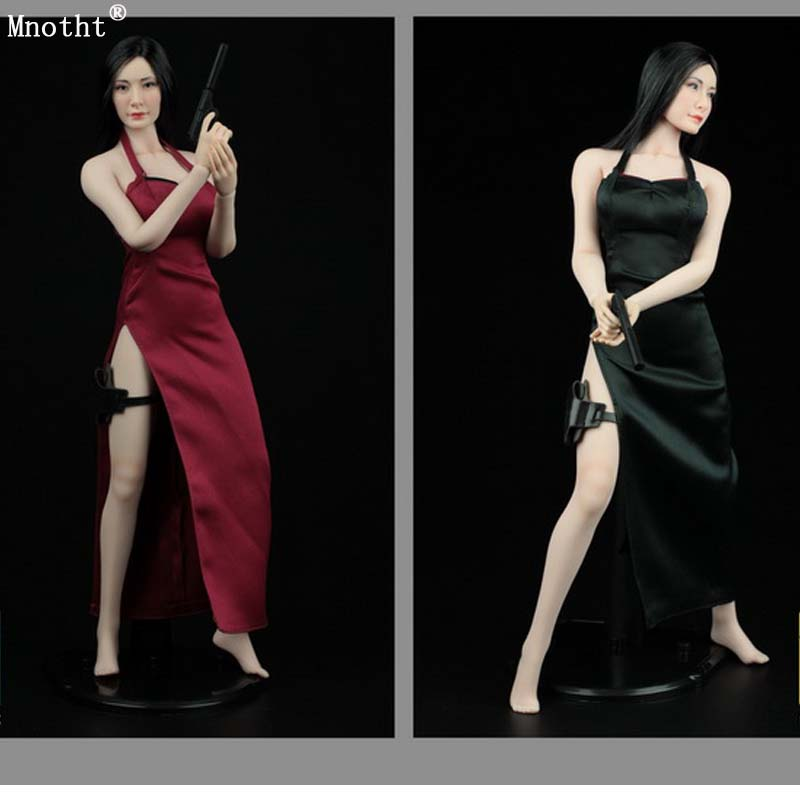 цена Mnotht A003B/A03R 1/6 Female Killer Cheongsam Dress Suit Red Resident Evil Ada Wong ADA For 12