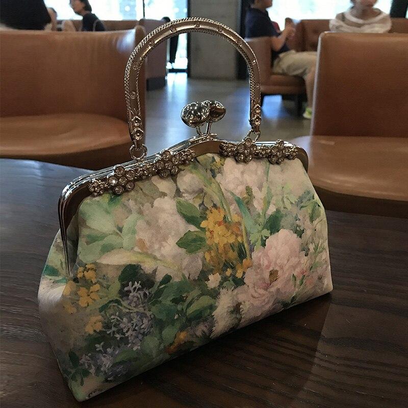 Professionnel fait à la main bricolage artisanat matériel paquet pour mode fleur femmes sac à main (22x16x8 cm) métal-ouverture cadre sac cadeau