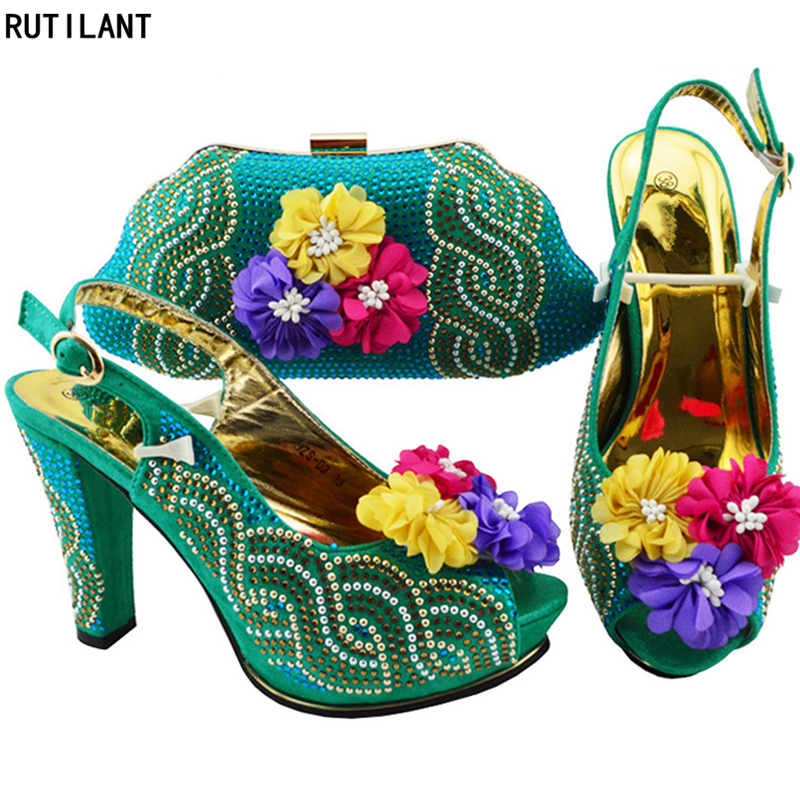 New Arrival African Matching Shoes and Bags Italian In Women Party Shoes and Bag Sets Sales In Women Matching Shoes and Bag Set