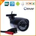 1280*720 P 1.0MP Bala IP Câmera de Segurança Ao Ar Livre IR ONVIF 2.0 Filtro de Corte IR Megapixel Visão Noturna P2P IP Cam à prova d' água lente