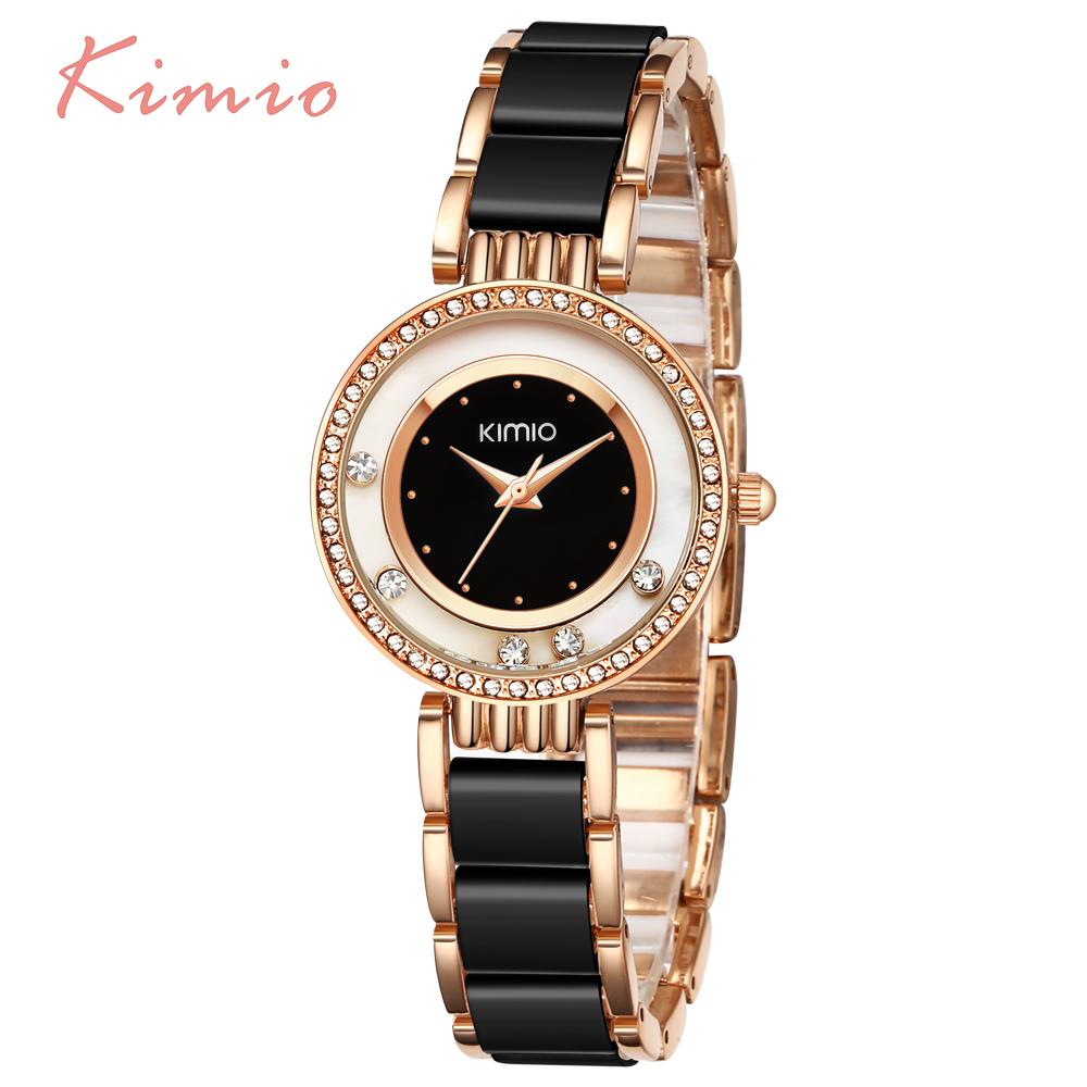 Prix pour Kimio perle échelle cristal diamant roulant bracelet femmes montres de marque de luxe dames de mode montre femmes quartz-montre horloge