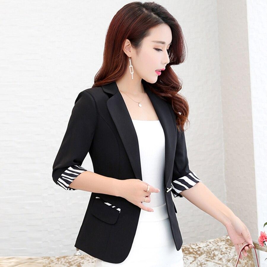 Office Women Blazers And Jackets Floral Contrast Jacket Zebra Harajuku Striped Red Blazer Short Korean Marynarka Damska J0025E