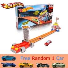 Новинка года, автомобильный трек Hotwheels, набор, прямой трек, ускорение, трек, автомобиль, игрушка, образовательное здание, горячие колеса, трек, модель CBY76