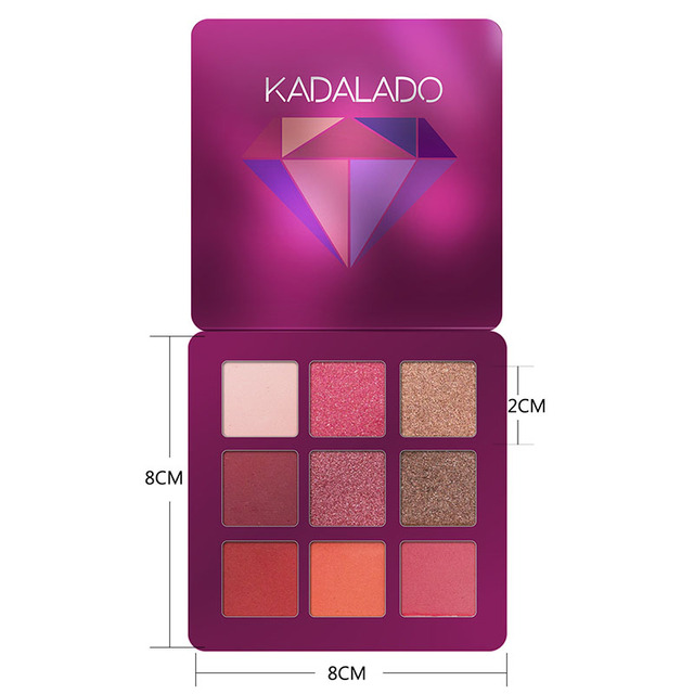 9 Colors Glitter Eyeshadow Makeup Pallete Matte Eye Shadow Palette Shimmer And Shine Diamond Eyeshadow Powder Pigment Cosmetics 2