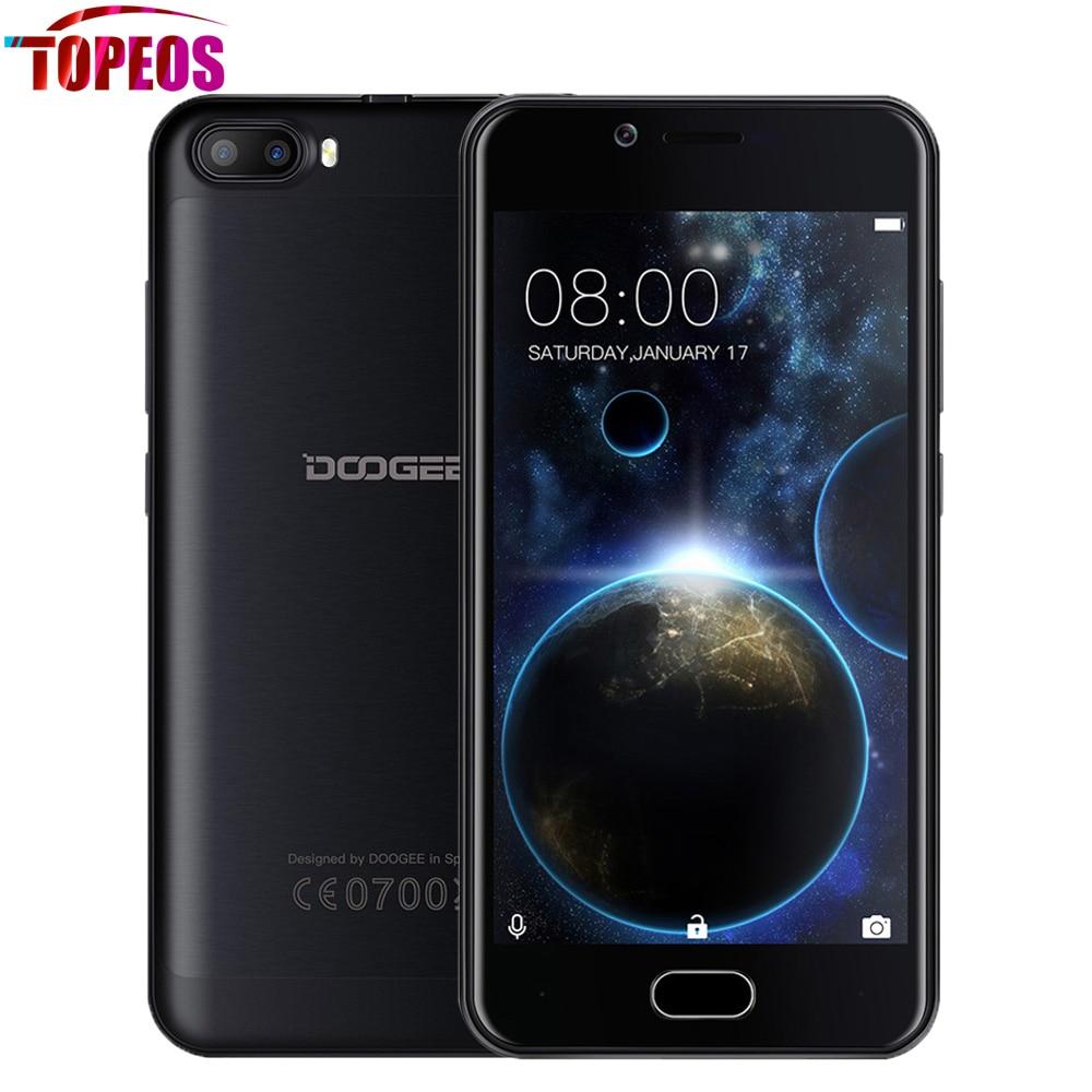 Doogee disparar 2 android 7.0 dual cámaras traseras mtk6580a smartphone quad cor