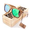 BOBO Estilo gafas de Sol de Madera marrón Diseñador de la Marca gafas de sol de madera Cuadrada de AVES Al Aire Libre Deporte gafas de Sol Gafas Oculos Masculino