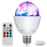 100 V-240 V Kleurrijke RGB LED Lamp 3 W E27 Disco Gloeilampen Roterende Stage Strobe DJ Dance met Afstandsbediening voor Bar Karaoke Club