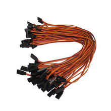 10pcs/lot 300mm 10cm15cm/30cm/60cm 26AWG RC servo extension Lead wire cable for Futaba JR male to female plug cables wiring цена