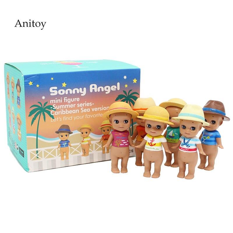 6pcs/set Sonny Angel Summer series Caribbean Sea version PVC Figure Collectible Toy 8cm KT4158