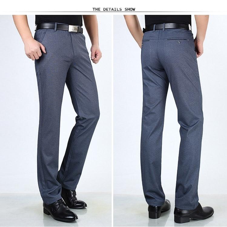 HTB1SfymX42rK1RkSnhJq6ykdpXas Classic Pants Men Suit Dress Casual Pants Men Straight Fit Business Work Office Formal Pants Big Size Autumn Men's Trousers Male