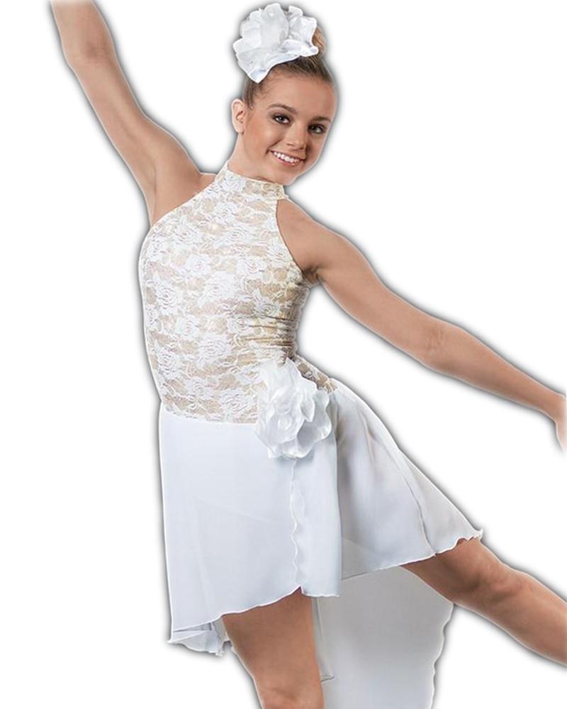 Jupe de danse latine adulte nouvelle robe de ballerine jupe en mousseline de soie dentelle blanche Performance professionnelle Costume danse porter des femmes