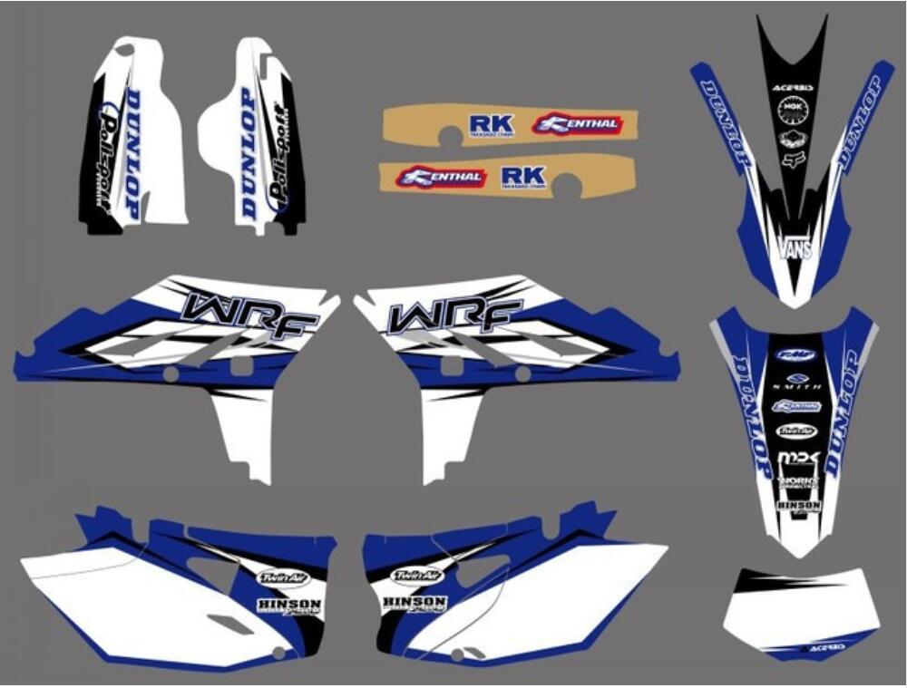 For <font><b>Yamaha</b></font> Motor Bike WRF450 <font><b>WR450F</b></font> Decal <font><b>Sticker</b></font> kit FOR <font><b>YAMAHA</b></font> WR 450F WRF 450 2012 2013 2014 image