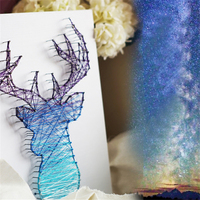 Nordic Style Deer Wall art decorative diamond paintings string art Home Decor DIY Kit Novelty gift for kids Mother's Day gift