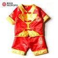 Mopopo Китайский Тан Национальный Стиль Новорожденный Мальчик Одежды Летом 2017 Китай Одежда Baby Boy Летние Костюмы Babykleding