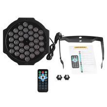 36LED 72W RGB Stage Light Party Disco Light Club Lamp DMX512 DJ Light With Remote Control EU Plug AC 220V~240V стоимость
