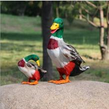 WYZHY Simulation Duck Poultry Feather Animal Home Decoration Handicraft Child Cognitive Model 14CMx10CMx12 CM