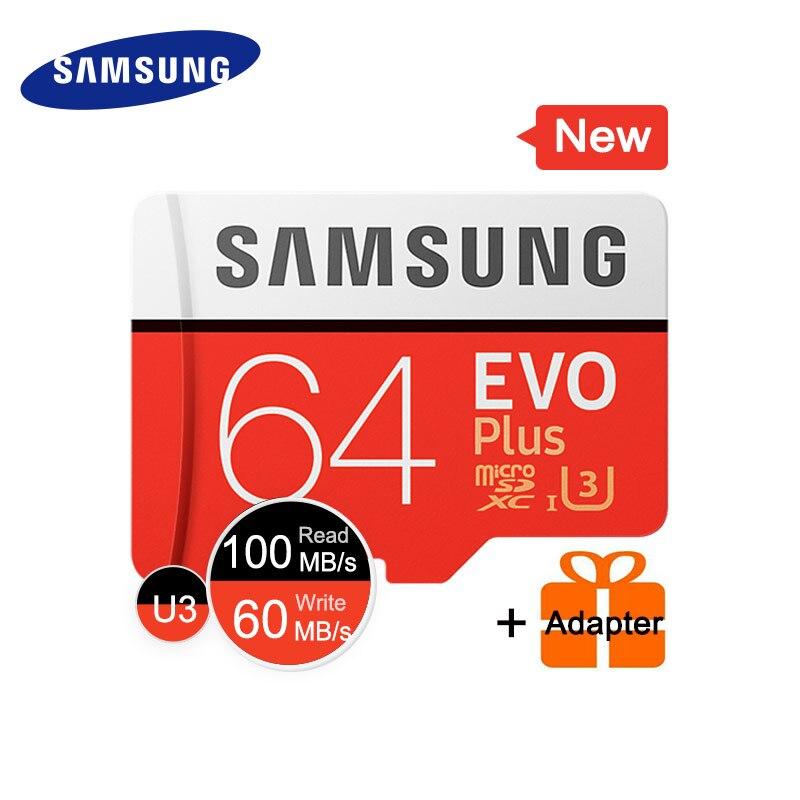 Scheda di Memoria SAMSUNG Micro SD 64 gb SDHC SDXC Grado EVO + EVO Classe 10 C10 UHS TF Trans Flash microsd