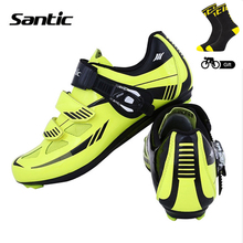 Santic 2017 Men Cycling Shoes Nylon TPU Breathable Locking Shoes Outdoor Waterproof Road Bike Shoes Sneakers For Bicycle Sports