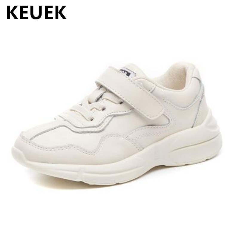 New Children Sneakers Baby Student White Casual Shoes Boys Girls Genuine Leather Sports Shoes Kids Flats Breathable 041 new fashion genuine leather children shoes boys girls casual brogue shoes baby breathable flats kids oxford shoes sneakers 03